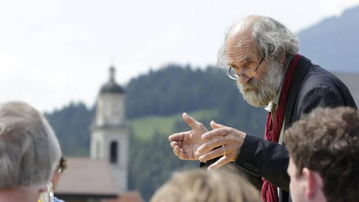 """Der Bündner Musiker und Komponist Domenic Janett hat für die Zürcher Stubete am See 2016 eine """"Schöpfungsgeschichte im Volkston"""" geschrieben (Archiv)"""