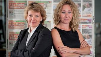 Ariane Dayer (links), Chefredaktorin «Le Matin Dimanche» und Sandra Jean, Chefredaktorin «Le Matin». Foto: Laurent Crottet – le Matin