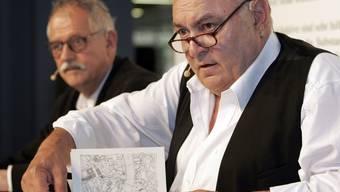 Hansjörg Schneider (links), der Erschaffer von Kommissär Hunkeler, und Matthias Gnädinger (Archiv)