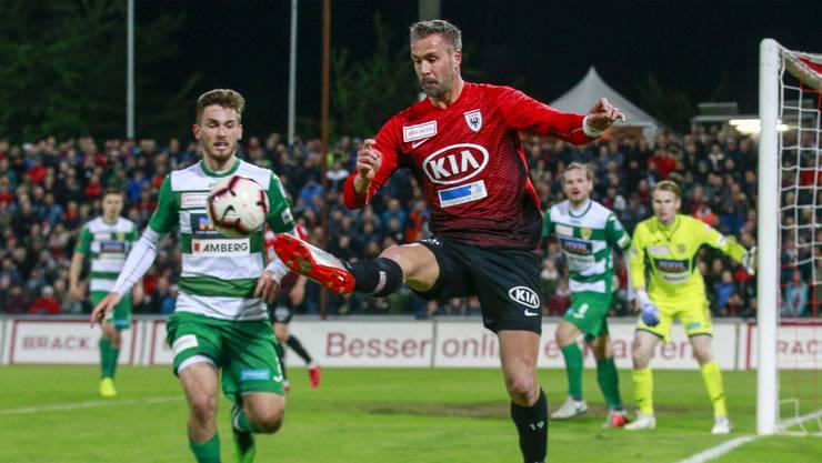 Der FC Aarau hatte den Sieg mehrfach auf dem Fuss, muss sich aber letztlich doch mit einem 1:1 gegen die Krienser begnügen.