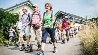 Leserwandern 2015: Die erste Etappe führte von Hausen nach Baden