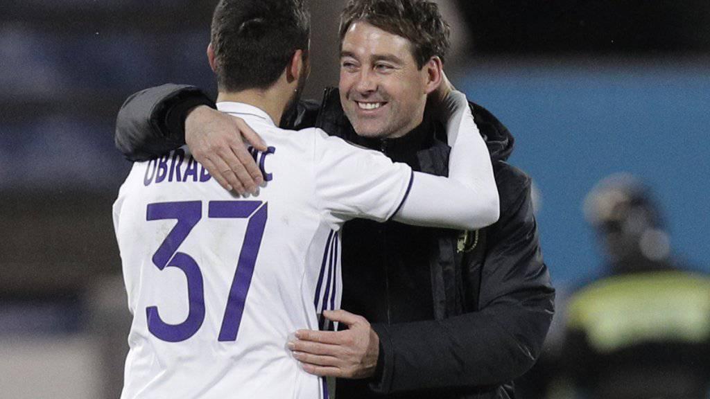 Anderlecht-Trainer René Weiler schaffte sich mit seinem Team in der Europa League eine gute Ausgangslage für das Rückspiel vor heimischem Publikum