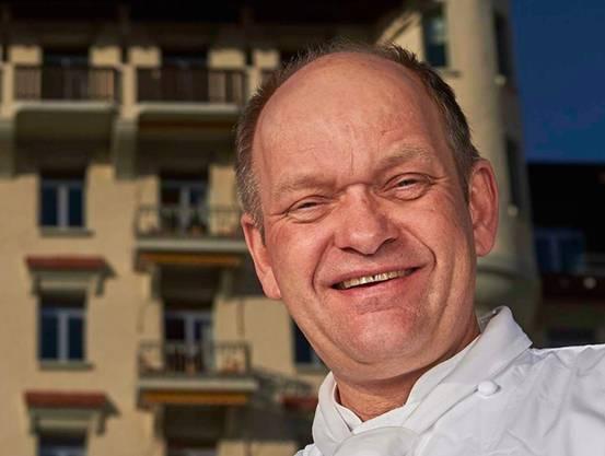 Franz W. Faeh, Küchenchef im Hotel Palace in Gstaad.