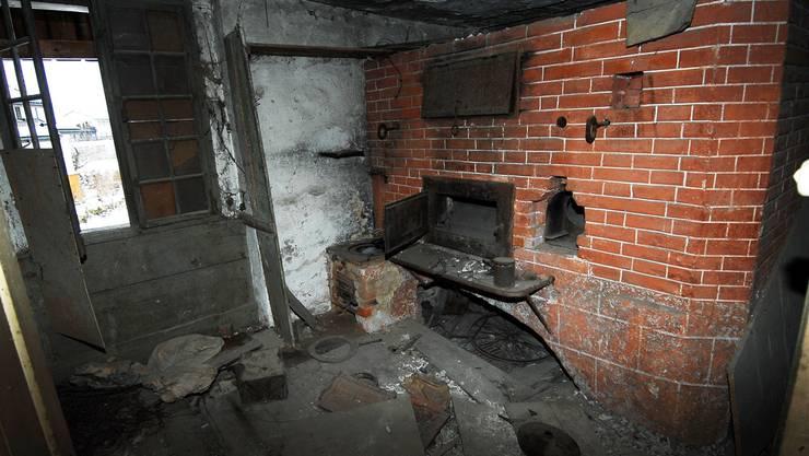 Letztes Foto vor dem Abbruch: Die Mazzenbäckerei wird abgebrochen.Za