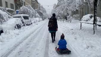 Schnee: die Bilder aus der Schweiz