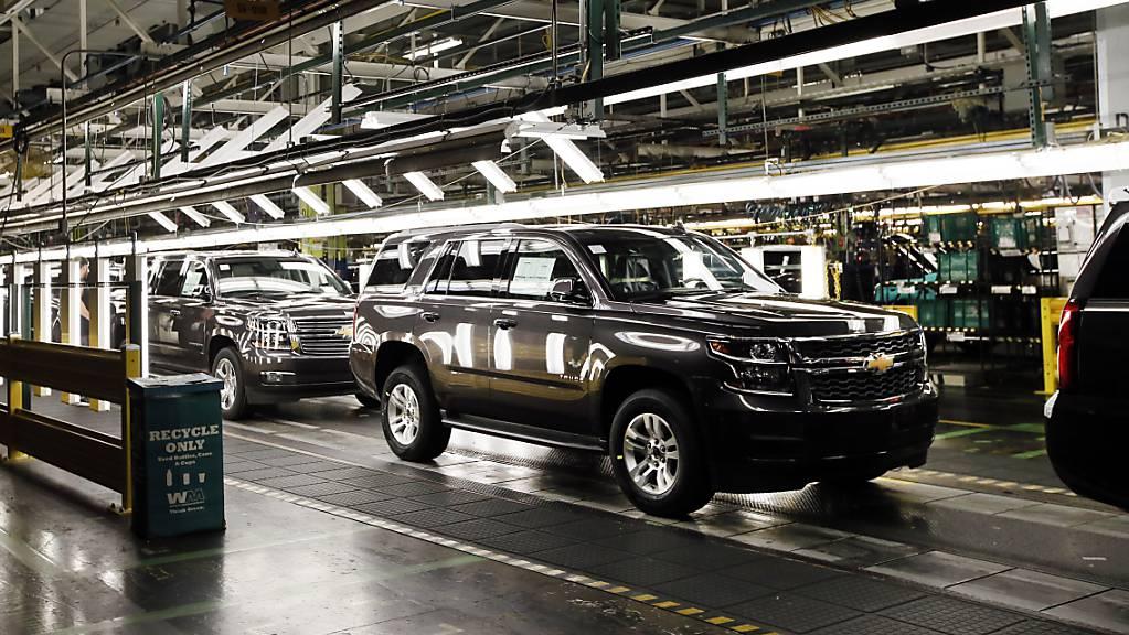 Der US-Autokonzern General Motors hat im ersten Quartal deutlich mehr verdient als vor einem Jahr. Gut nachgefragt wurden vor allem SUVs und Pick-up-Trucks. (Archivbild)
