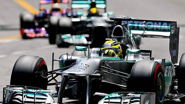 Nico Rosberg in Monte Carlo auf dem Weg zum Sieg.