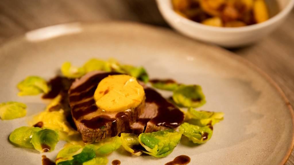 Chateaubriand mit Curry-Orangenbutter von Remo