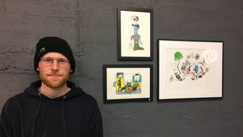 Die Zeichnungen von Noé Herzog geben dem Betrachter Anstoss zum Nachdenken.