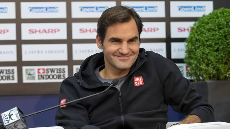 Gut gelaunt vor dem Heimturnier: Roger Federer