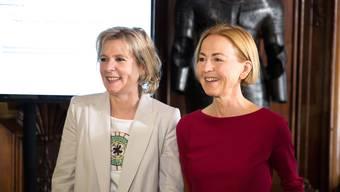 Brigit Wyss (Grüne) und Susanne Schaffner (SP)