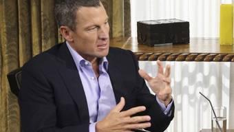 """Lance Armstrong 2013 in der Sendung """"Oprah and Lance Armstrong: The Worldwide Exclusive"""", in der er gestand, gedopt zu haben. Dass der Staat wegen Armstrongs Betrug die an sein Team gezahlten Subventionen zurückhaben will, sieht er nicht ein. (Archivbild)"""