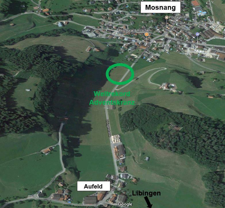Hier zwischen Mosnang und Libingen soll der «Mega-Adventskranz» entstehen. Bild: zVg