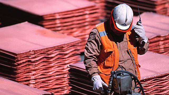Kupfermine von BHP in Chile
