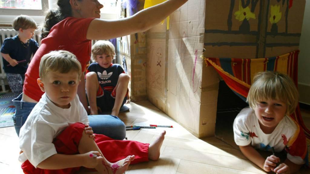 64 Prozent der Kinder in der Schweiz werden ausserfamiliär betreut