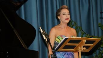 Barbara Buhofer begeisterte mit ihrer kraftvollen Sopranstimme das Publikum.