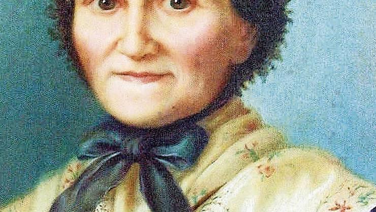 Marguerite Bays (1815–1879). Das Gemälde ist das populärste Porträt der Freiburgerin. Bild: PD