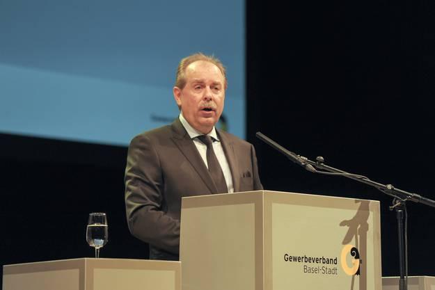 Engagiert und eloquent: Gewerbepräsident Marcel Schweizer.
