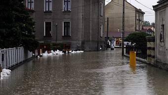 Strassen in Polen sind überflutet