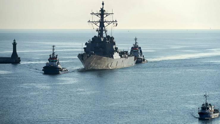 """Der Zerstörer """"USS Donald Cook"""" wurde von russischen Kampfjets überflogen. (Archiv)"""