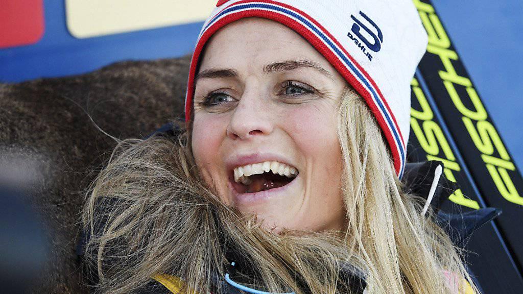 Das Siegerlächeln von Therese Johaug.