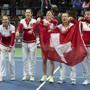 Wird das Schweizer Fed-Cup-Team auch in Budapest La Ola zelebrieren können?