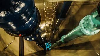 Aus dem Pumpwerk Lenzhard in Niederlenz bezieht Wohlen Wasser.