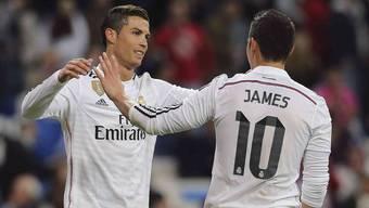 Cristiano Ronaldo und James Rodriguez sind in Topform.