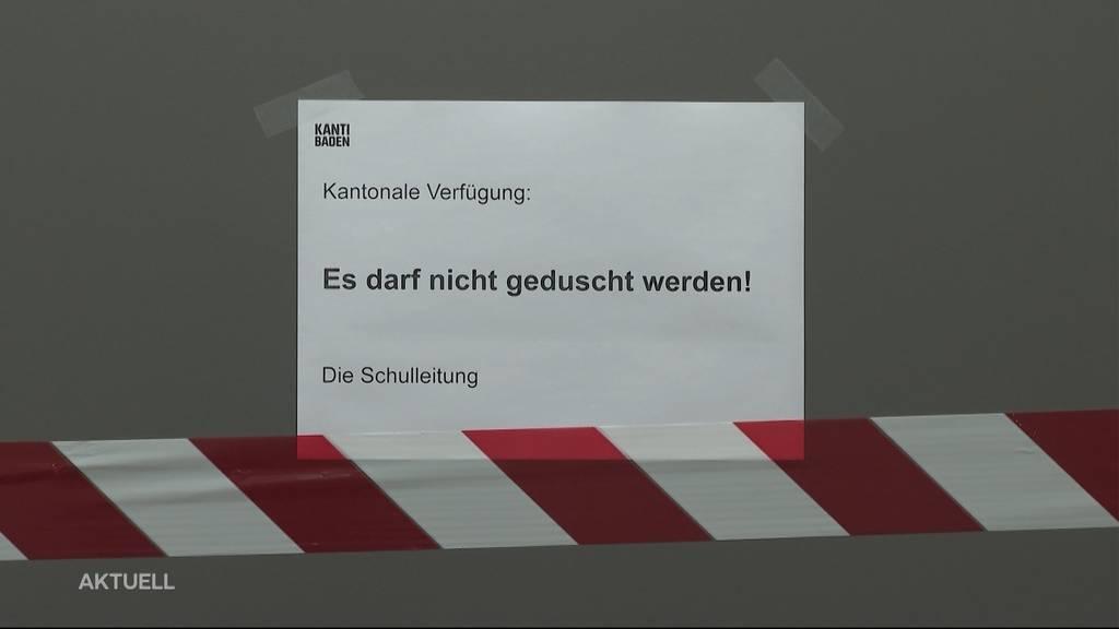 Legionellen-Alarm: Duschverbot an der Kanti Baden