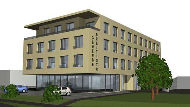 Der geplante Tschachtli-Neubau im Gewerbegebiet Breiti.