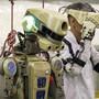 Der Roboter Fiodor soll künftig bei gefährlichen Einsätzen auf der ISS assistieren.