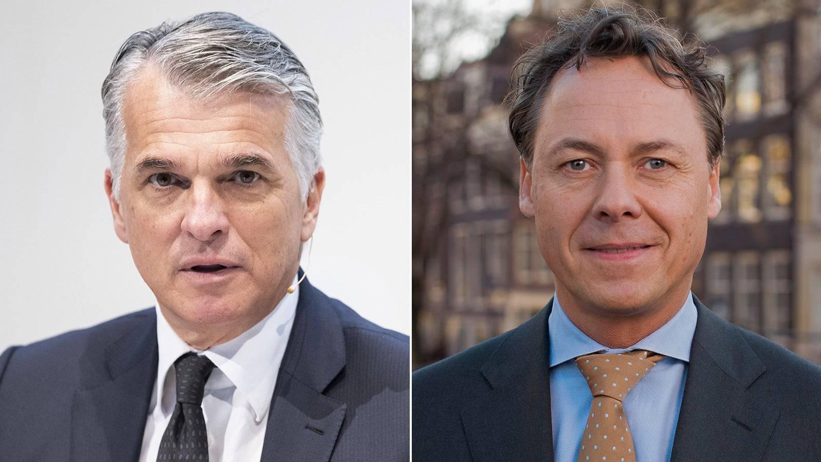 Tritt im Herbst ab: UBS-CEO Sergio Ermotti (links). Übernimmt: Ralph Hamers.