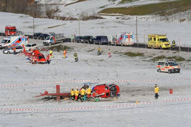 Bei dem Absturz gab es Verletzte, zum Glück kam niemand dabei ums Leben