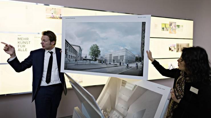 «Das neue Kunsthaus», nennt der Projektmanager Dag Vierfuss (links) den Erweiterungsneubau.