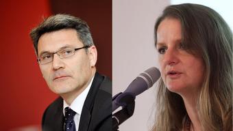 Die Tessiner SP-Grossrätin Lisa Bosia Mirra (rechts) und SVP-Nationalrat Pirmin Schwander.