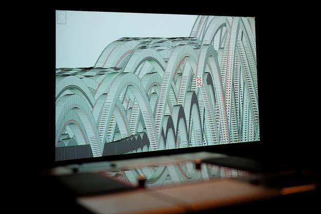 Diese Projektion stammt vom Künstler Evan Roth.