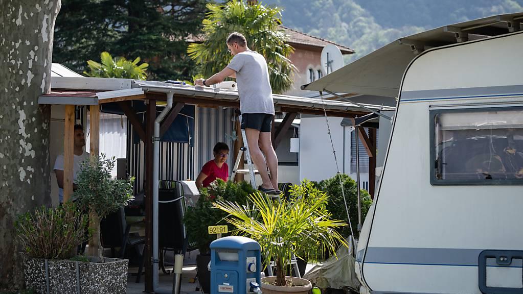 Zum Saisonstart an Ostern ausgebucht: Der TCS-Campingplatz Monte Generoso in Melano TI. (Archivbild)
