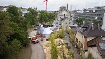 Die neue «Kuppel» soll ein Konzertklub für 750 Besucher werden. Im Untergeschoss finanziert Basel-Stadt mit 1,7 Millionen Franken acht Bandproberäume.