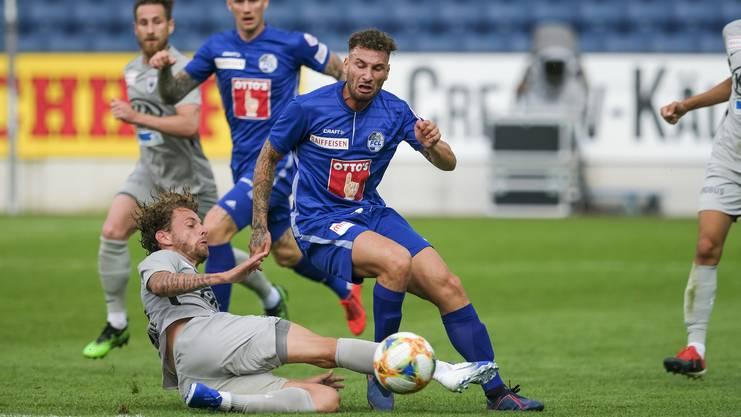 Nach dem Testspiel gegen Luzern wurden die Rückenschmerzen so schlimm, dass Jäckle pausieren musste.
