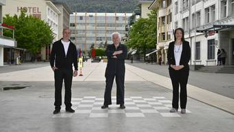 Wollen auf dem Schachbrett der Grenchner Politik wieder mitspielen: David Horisberger, Georges Schild und Xenia Hediger