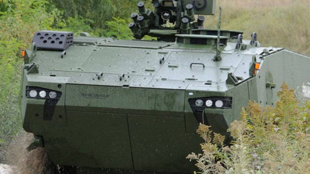 Dänemark will den Piranha 5 der Mowag für Friedensmissionen einsetzen.