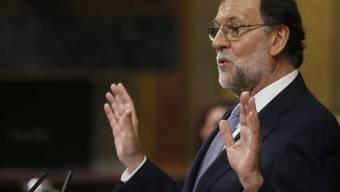 Mariano Rajoy am Mittwoch im Parlament in Madrid.
