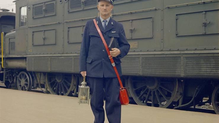 Bähnler zu sein machte stolz. Foto von 1937.
