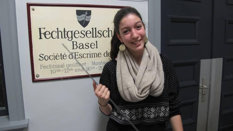 Zweimal wöchentlich trainiert Alexandra Blum im Fechtsaal in Basel.  ppe
