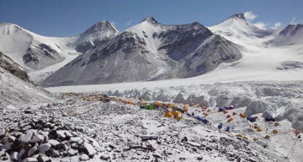 Eines der Camps, welches die Bergsteiger auf der Reise zur Himlung Himal aufschalagen werden.