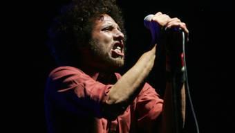 Zack de la Rocha von Rage Against The Machine bei einem Auftritt im April 2007. (Archivbild)