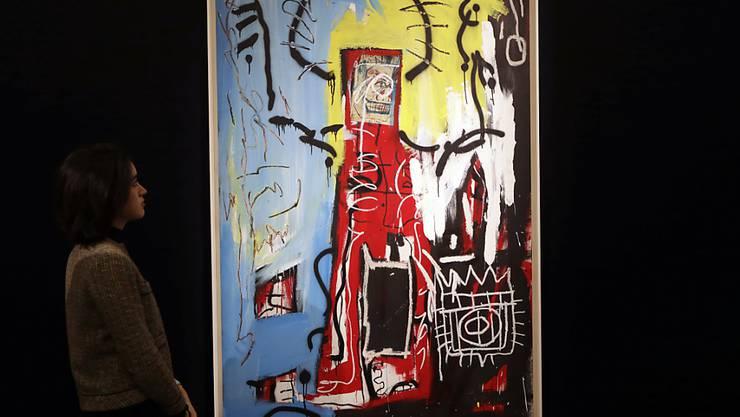 """Wurde für gut 110 Millionen Dollar versteigert: das Gemälde """"Untitled"""" des 1988 verstorbenen US-Künstlers Jean-Michel Basquiat. (Archivbild)"""