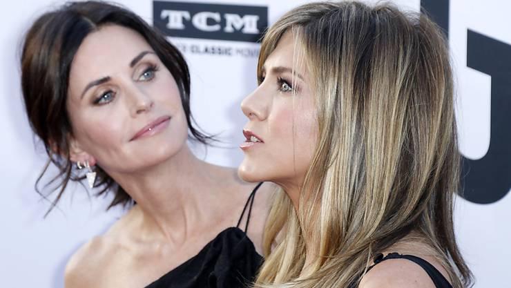 Ein Privatjet mit Jennifer Aniston (r.) und Courteney Cox (l.) an Bord musste notlanden. (Archivbild)