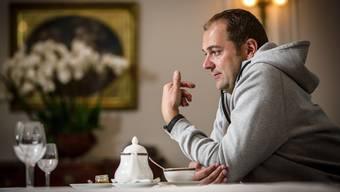 Spitzenkoch Daniel Humm, der in Amerika grosse Restaurationsbetriebe fuehrt und schon zahlreiche Auszeichnungen gewonnen hat. Aufgenommen am 29. September 2015 im Hotel Baur au Lac in Zuerich.