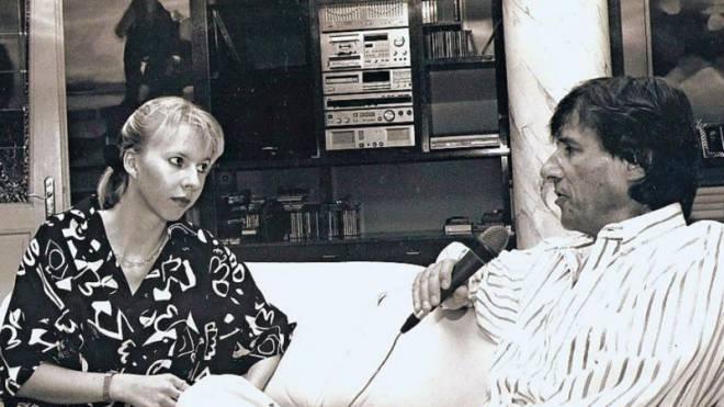 Vor rund 25 Jahren: Anja-Maria Stampfli mit Sänger Udo Jürgens. Foto: ho